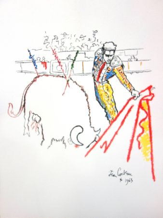 Lithographie Cocteau - Torrero
