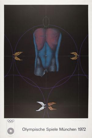 Lithographie Wunderlich - Torso / Olympische Spiele München 1972