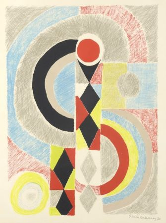 Lithographie Delaunay - Totem