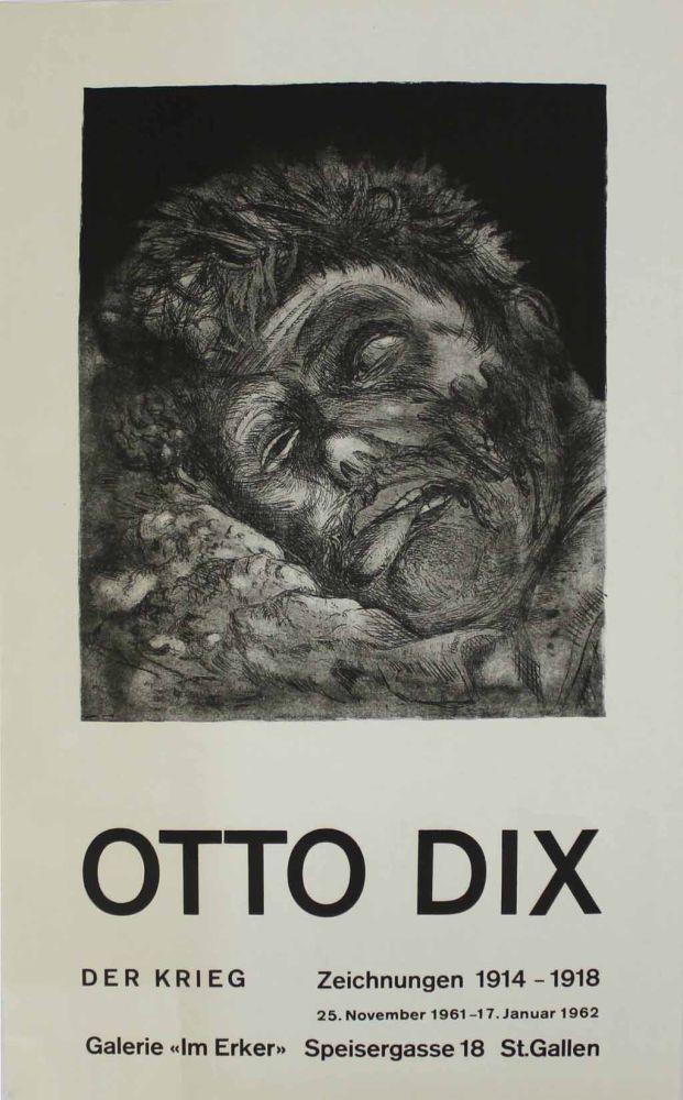 Lithographie Dix - Toter (St. Clément) [Dead Man (St. Clément)]