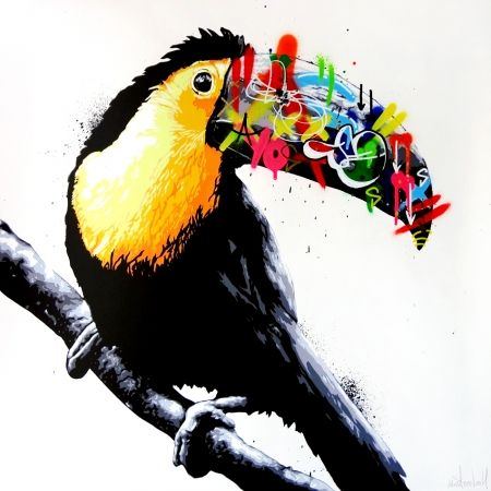 Sérigraphie Whatson - Toucan (main edition)