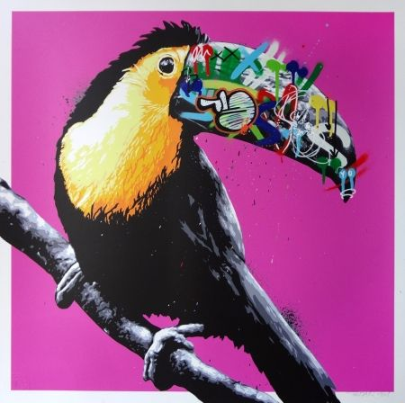 Sérigraphie Whatson - Toucan (pink)