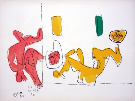 Lithographie Le Corbusier - Touching Their Feet
