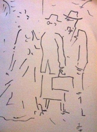 Lithographie Cocteau - Tramway nommé désir