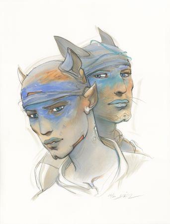 Lithographie Bilal - Transhumans 2