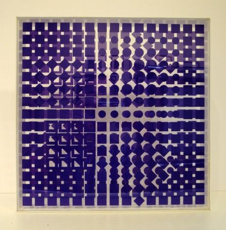 Sérigraphie Vasarely - Transparences: Tsillag