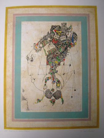 Eau-Forte Et Aquatinte Finsterer - Traum der alten Dame