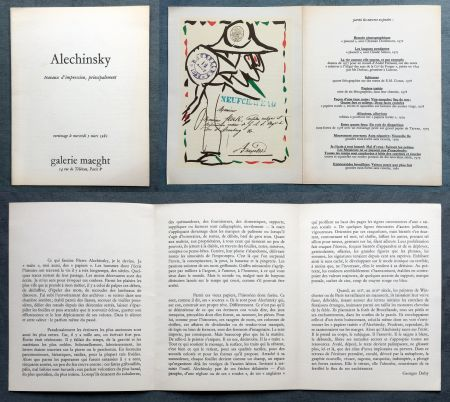 Lithographie Alechinsky -