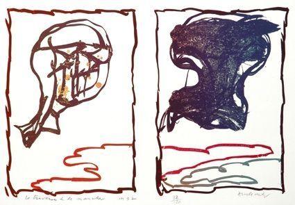 Lithographie Alechinsky - Traversée De La Manche