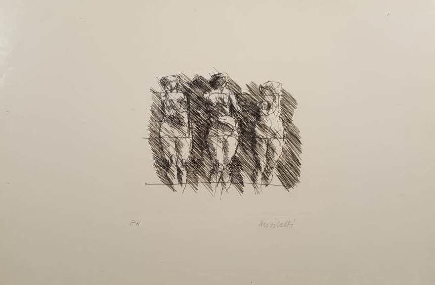 Lithographie Morlotti - Tre dame