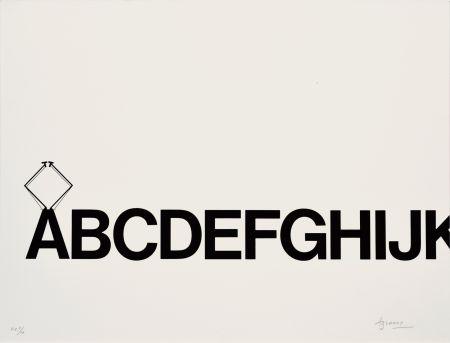 Lithographie Brossa - Tren de lletres