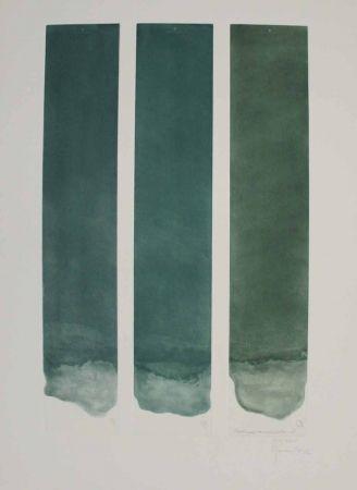 Aquatinte Hernandez Pijuan - Tres colors per a un espai verd