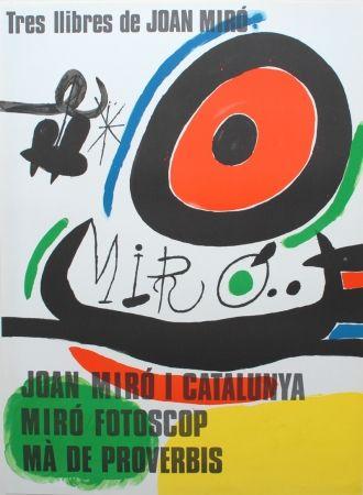 Lithographie Miró - Tres llibres de Joan Miró