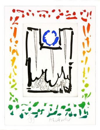 Eau-Forte Alechinsky - Triade bleue