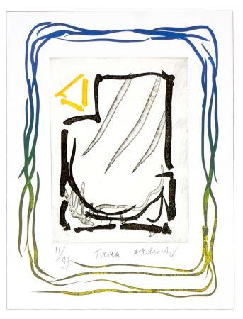 Lithographie Alechinsky - Triade jaune