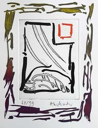 Gravure Alechinsky - Triades