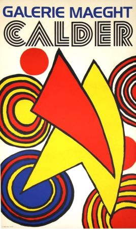 Lithographie Calder (After) - Triangles et Spirales Galerie Maeght