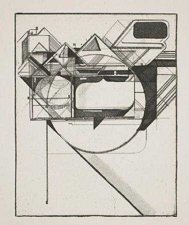 Eau-Forte Et Aquatinte Kofie - Triangulation 1