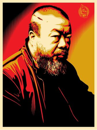 Sérigraphie Fairey - Tribute to Ai Weiwei