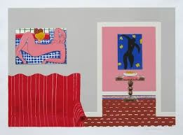 Lithographie Nhlengethwa - Tribute to Henry Matisse