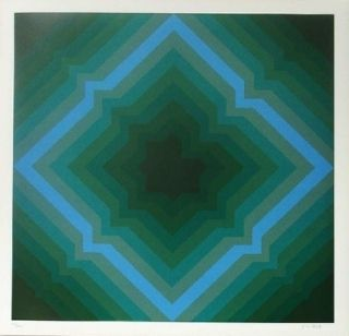 Lithographie Bird - Tribute to vasarely