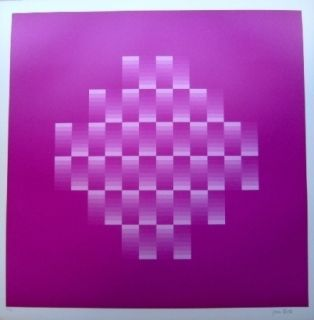 Lithographie Bird - Tribute to vasarely 10