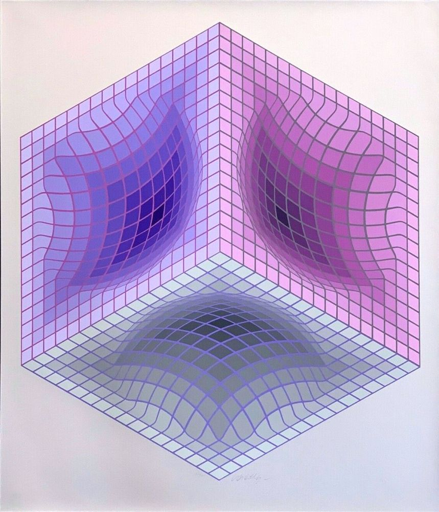 Sérigraphie Vasarely - Tridos II