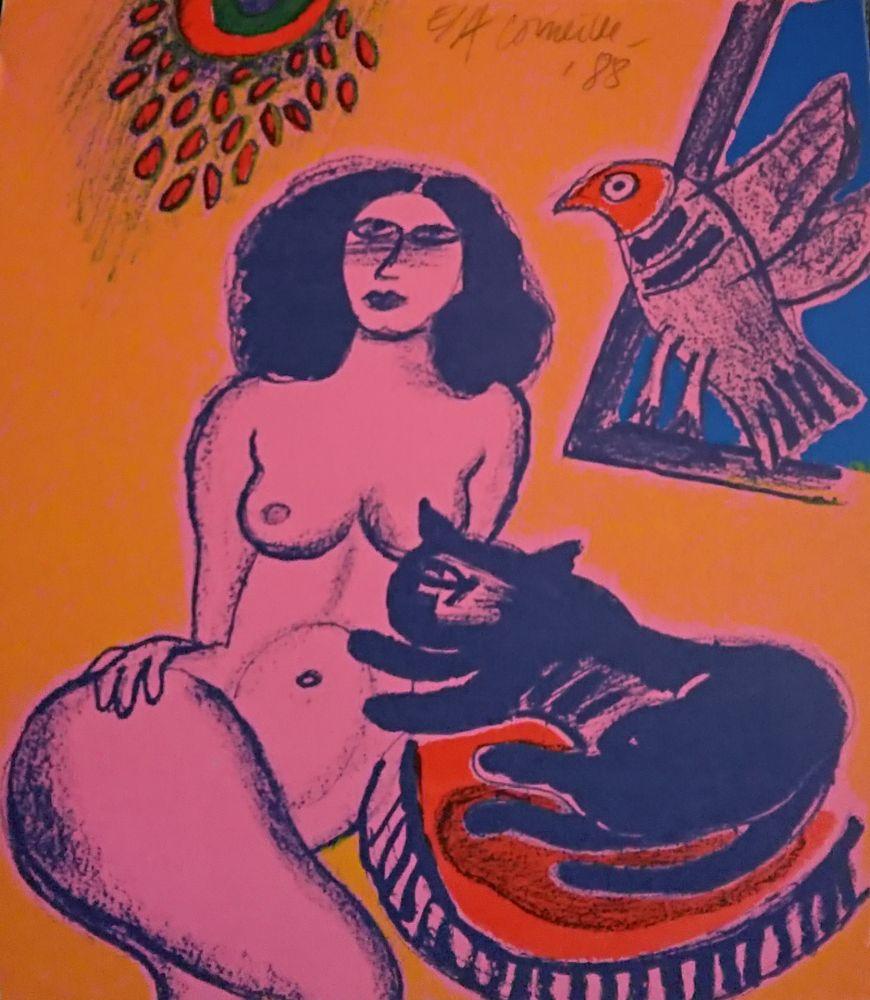 Lithographie Corneille - '' Trio ''