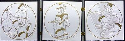 Gravure Rodo-Boulanger - Triptych (Musicians)