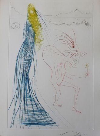 Gravure Dali - Tristan Et Iseult : Frocin, Le Mauvais Nain