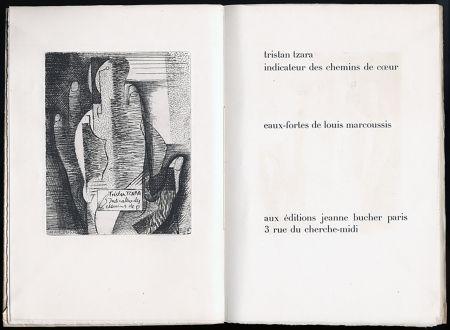 Livre Illustré Marcoussis - Tristan Tzara. INDICATEUR DES CHEMINS DE COEUR. Paris, 1928.