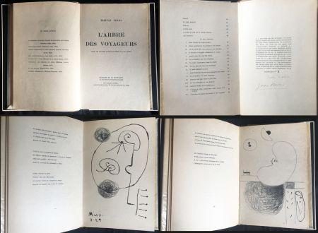 Livre Illustré Miró - Tristan Tzara. L'ARBRE DES VOYAGEURS. Orné de quatre lithographies de Joan Miró.