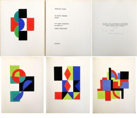 Livre Illustré Delaunay - Tristan Tzara. LE FRUIT PERMIS. 4 pochoirs (1956)