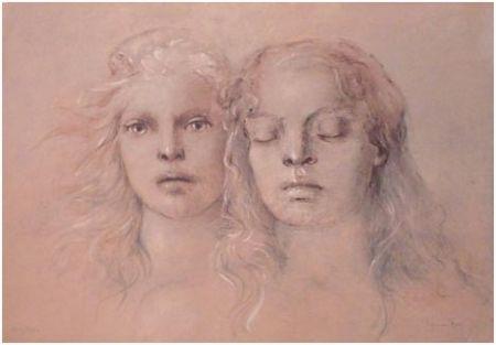 Lithographie Fini - Tristan und Isolde / Met Opera