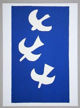 Lithographie Braque (After) - Troi oiseaux