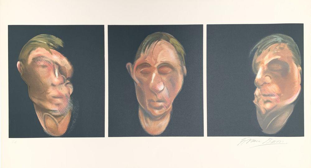 Lithographie Bacon - Trois études pour un autoportrait