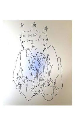 Lithographie Cocteau - Trois en Un