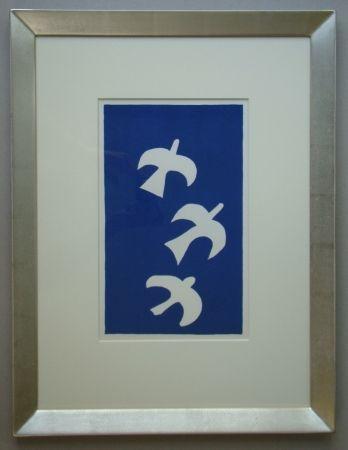 Lithographie Braque - Trois Oiseaux