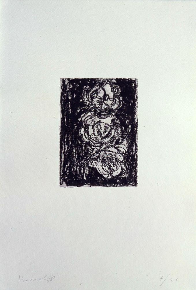 Lithographie Kounellis - Trois roses