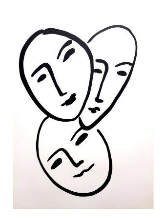 Lithographie Matisse - Trois Visages
