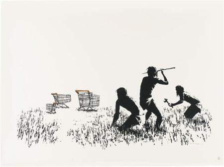 Sérigraphie Banksy - Trolleys