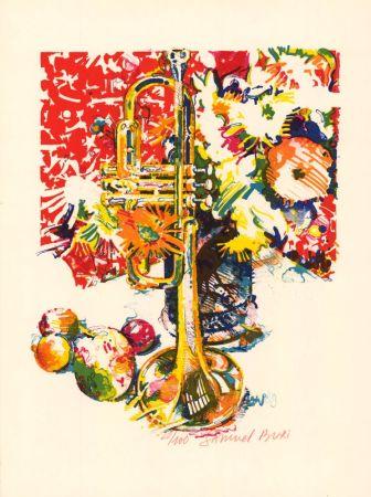 Lithographie Buri - Trompette