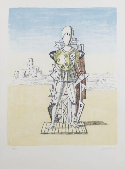 Lithographie De Chirico - Trovatore