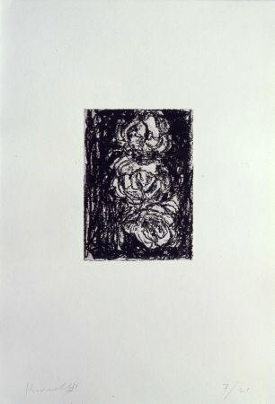 Lithographie Kounellis - Trpois roses