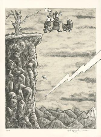 Lithographie Spiegelman - Trump l'Oeil (grey version)