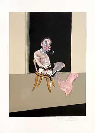 Lithographie Bacon - Tryptique Aout Partie Droite