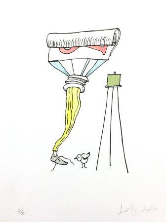 Lithographie Nørgard - Tube de dentifrice