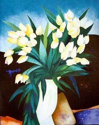 Lithographie Gaveau - Tulips