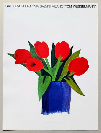 Lithographie Wesselmann - Tulips in a vase