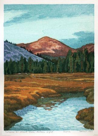 Gravure Sur Bois Schwaberow - Tuolumne 2: Mount Dana, Autumn Light